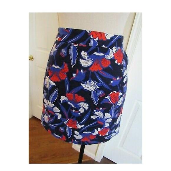 J. Crew Printed Basketweave Mini Skirt